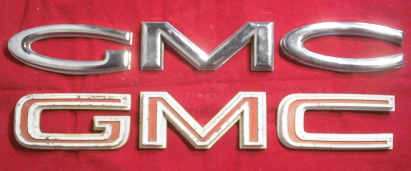GMC Grill Letters