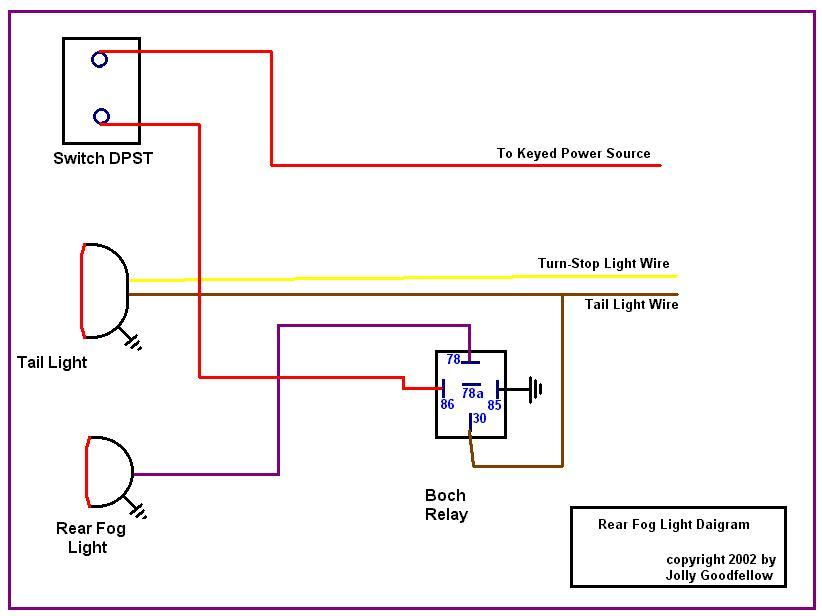 fog lamp relay wiring diagram rear fog light #1