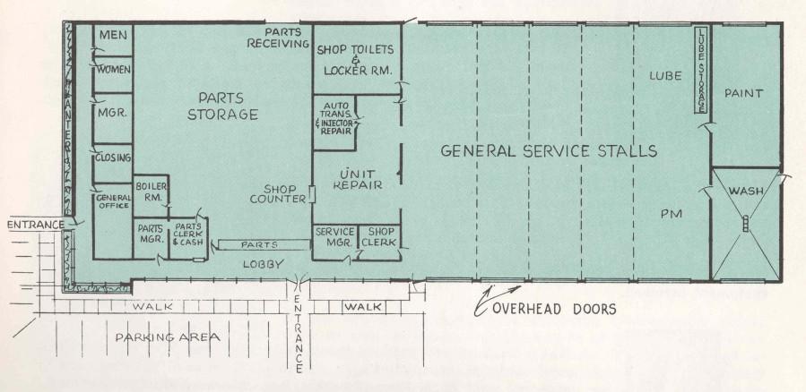 6066 gmc trucks museum for Truck repair shop floor plans